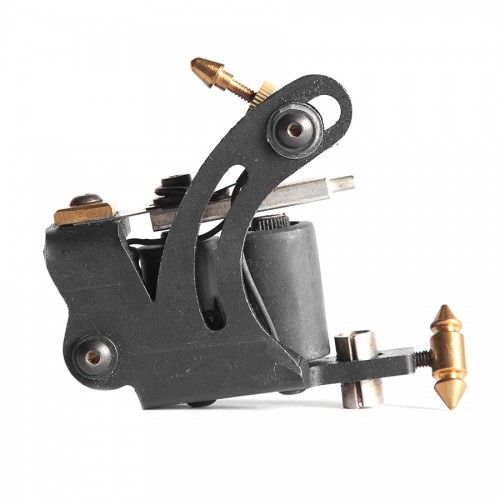 Linotec Iron Tattoo Machine by TTS. The Linotec Iron tattoo machine from Technical Tattoo Supply is constructed of laser cut and bent steel. This assures the quality of the tattoo machine's lining capabilities.  Tube and grips sold separately.