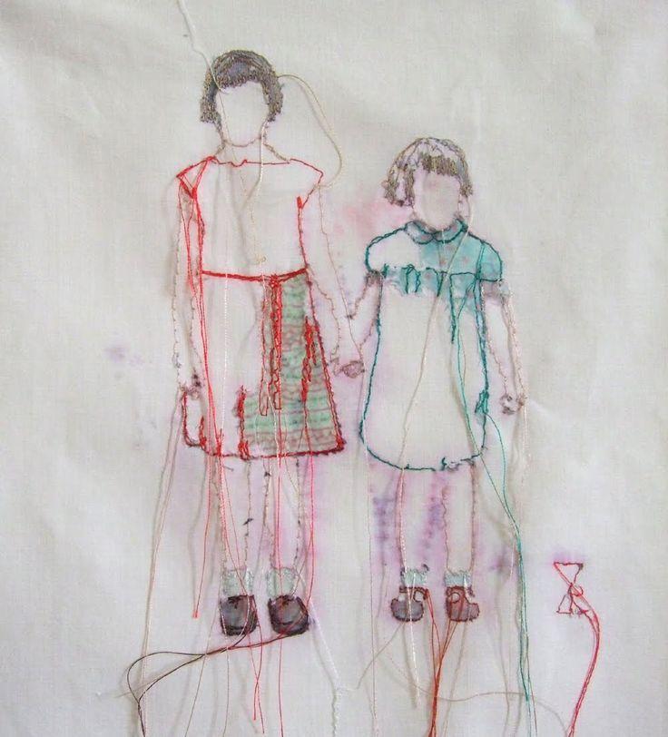 Textil Kunst: Geschwister
