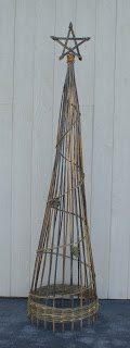 Christmas Willow Tree - inspiration - wondering if I can make something like this from bamboo for the garden