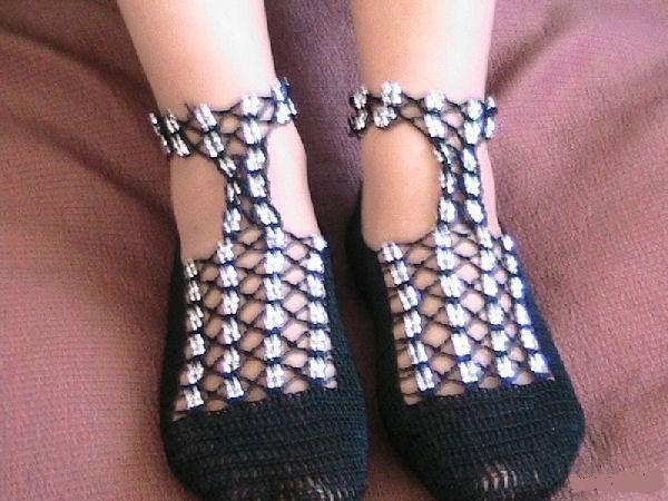 boncuklu sandalet örneği