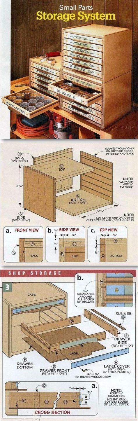 small parts storage system plans workshop solutions plans tips and tricks. Black Bedroom Furniture Sets. Home Design Ideas
