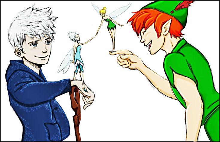 jack frost fan art | Walt-Disney-Fan-Art-Jack-Frost-Periwinkle-Tinker-Bell-Peter-Pan-walt ... what a perfect crossover!! this needs to happen