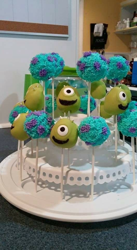 7/18/15- mike and sully cake pops