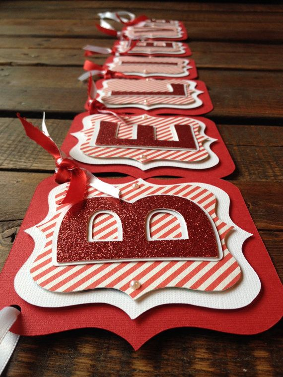 Believe Holiday Banner by PoppiesPosiesPaper on Etsy