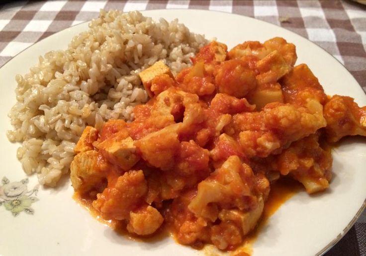 Una Vegetariana Creativa :): ENGLISH VERSION: MAIN COURSE! #VEGAN #TOFU #CAULIFLOWER #VEGANSTEW
