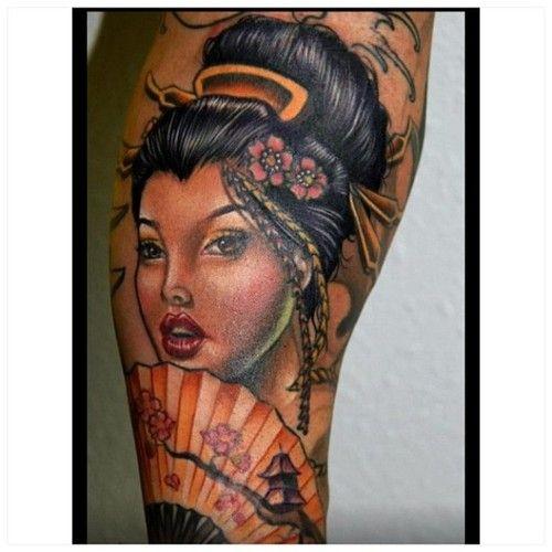 Just finished this geisha with @fkirons machines. #Tattoos #tatubabytattoo @tattooafterlife redemption @bigprick_tattoosupply