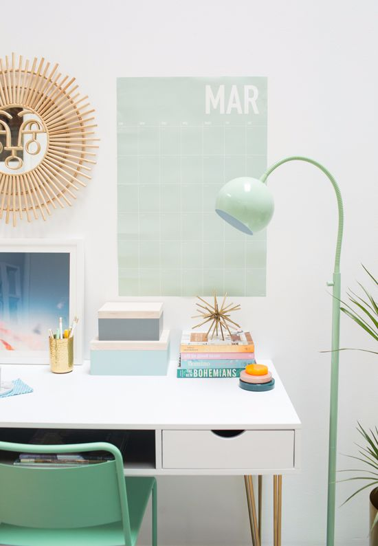 mint office accents | instagram + pinterest: erikacarlock