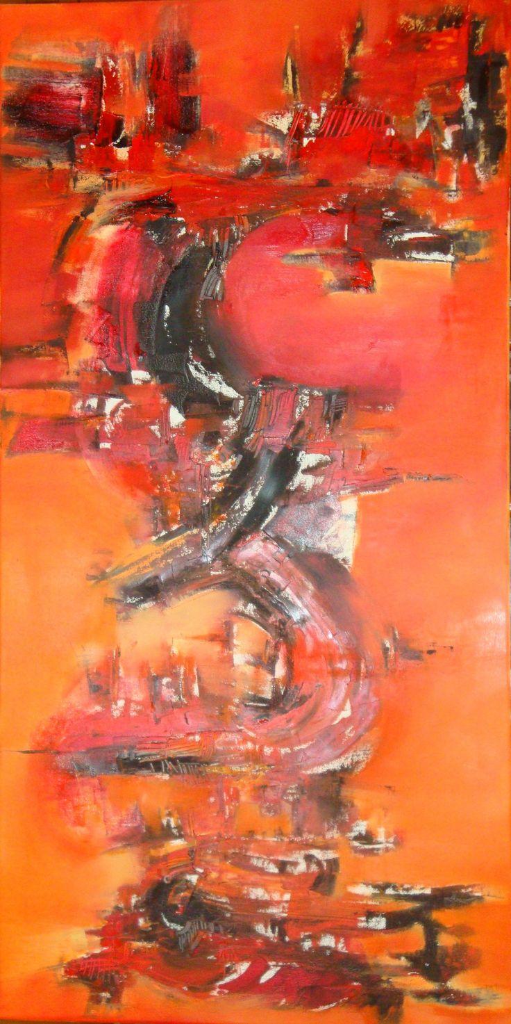 """""""Sub-versión pictórica"""" - Silvia Hilerowicz - Oleo sobre tela - 100 x 50 cm  www.esencialismo.com"""