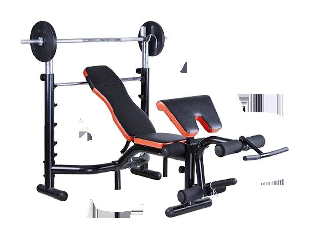 Complete fitnessbank met halter en gewichten €199