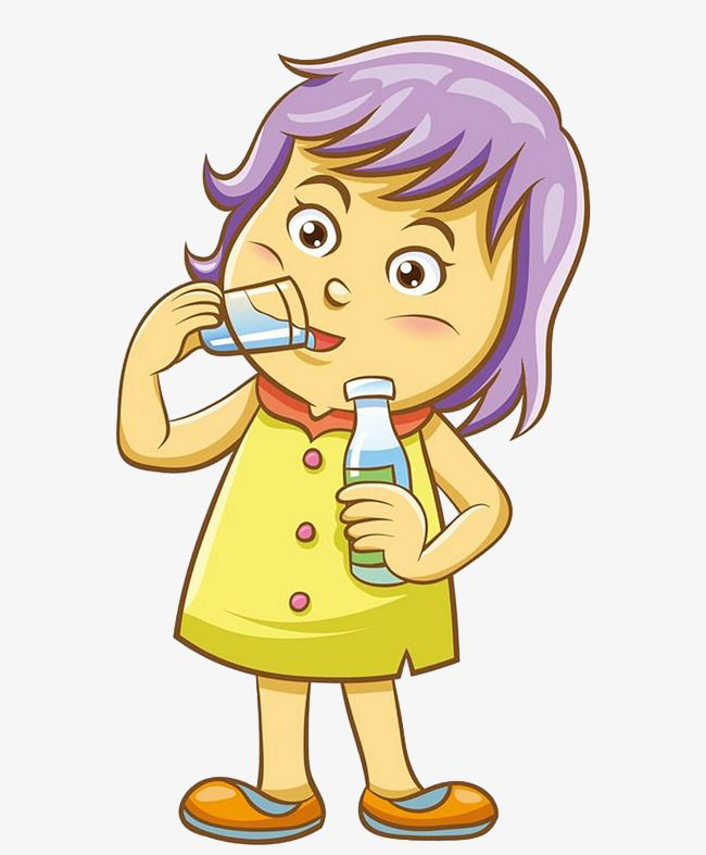 Girls Drink Water How To Draw Hands Clip Art Easy Drawings
