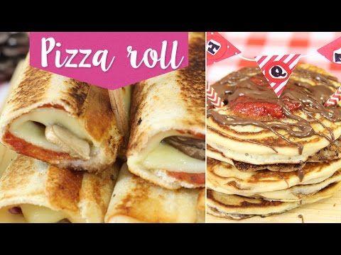 Recetas fáciles: Pizza Roll y Hot cakes con nutella ¡Sin horno! ✎ Craftingeek - YouTube