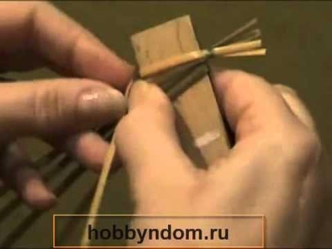 Плетение из соломы Снежинка.mp4 - YouTube