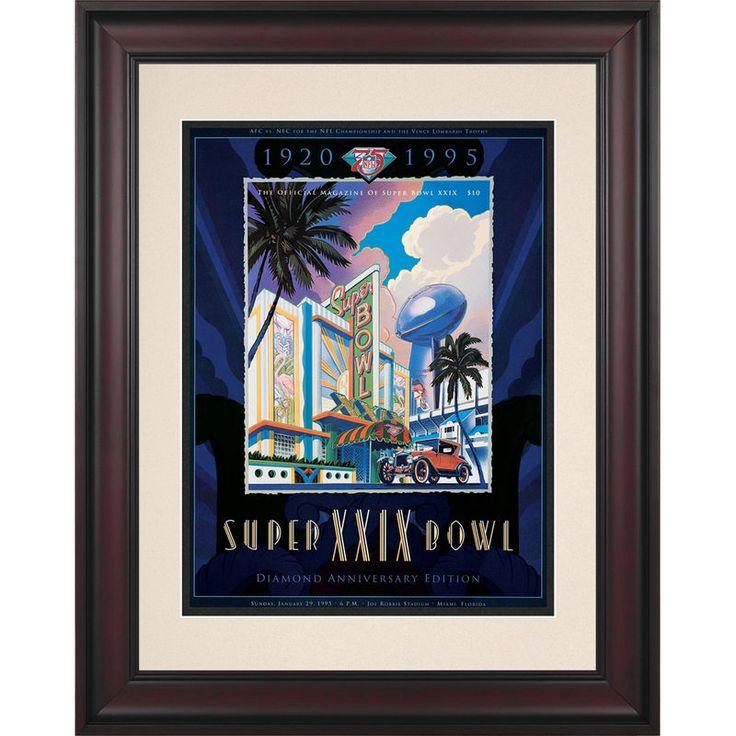 "Fanatics Authentic 1995 49ers vs. Chargers Framed 10.5"" x 14"" Super Bowl XXIX Program"