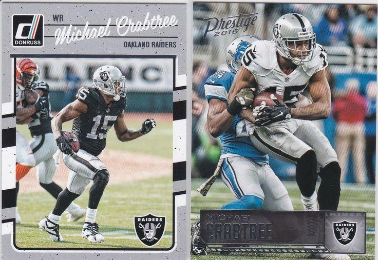 2016 Oakland Raiders Michael Crabtree Wide Receiver Prestige Donruss 2 Card Lot #OaklandRaiders