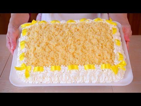 TORTA MIMOSA Ricetta Speciale Dedicata alle Donne - Italian Mimosa Cake Recipe - YouTube