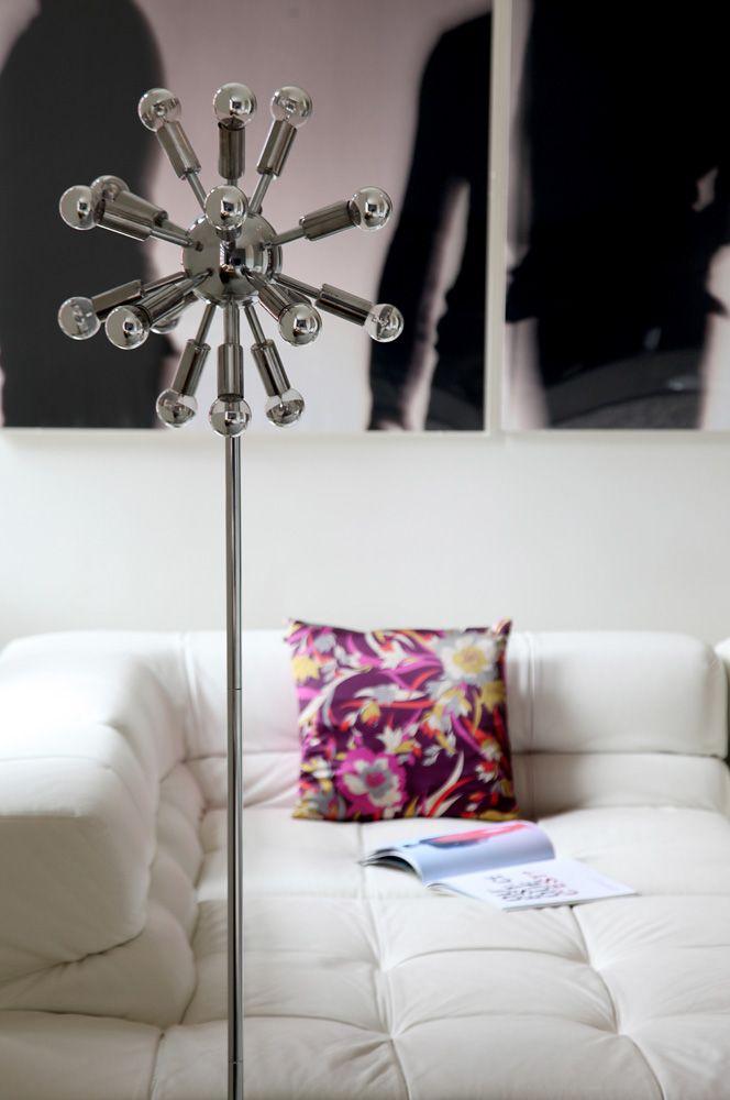 Loft in Athens, design, floor lamp, art, livingroom