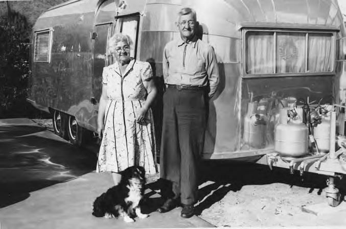 Vintage Airstream.  Vintage family not included.
