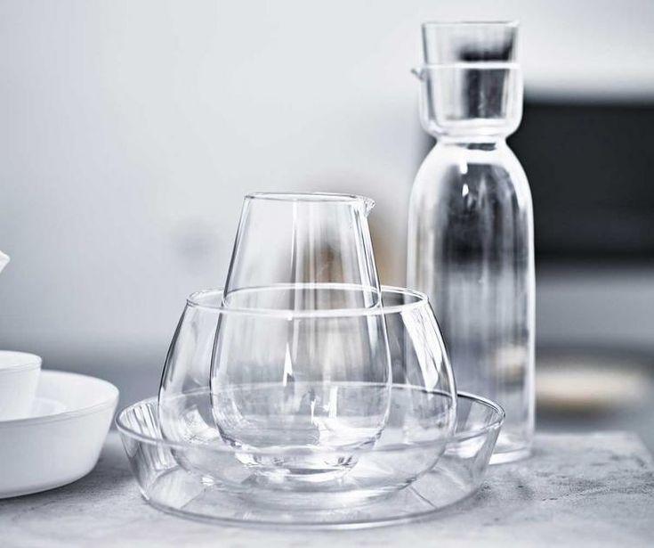 limitierte kollektion viktigt bei ikea glaskaraffe und schalen viktigt geschirr gl ser. Black Bedroom Furniture Sets. Home Design Ideas
