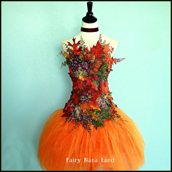 Adult Fairy Costume Accessory - Autumn Leaves Corset Top