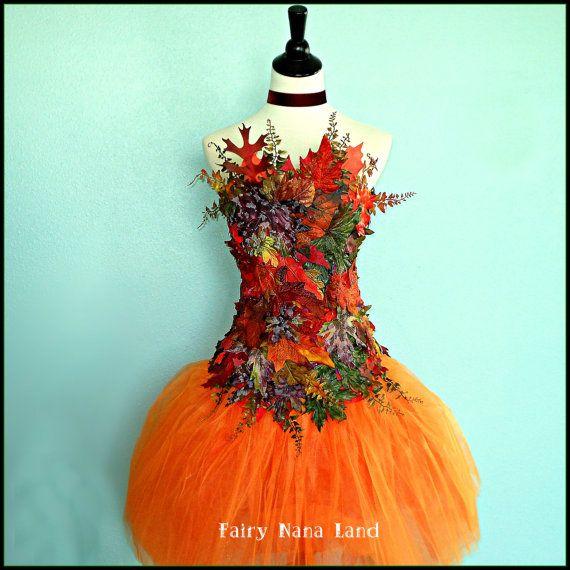 Adult Fairy Costume Accessory - Autumn Leaves Corset Top