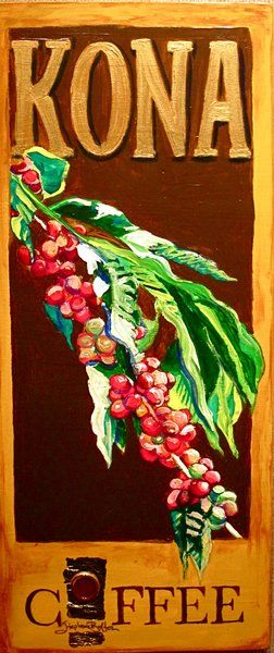 Hawaii Artist: Stephanie Bolton - Kona Coffee Artwork