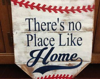 signo de béisbol de madera rústica hay 's no por SplendorInTheRough