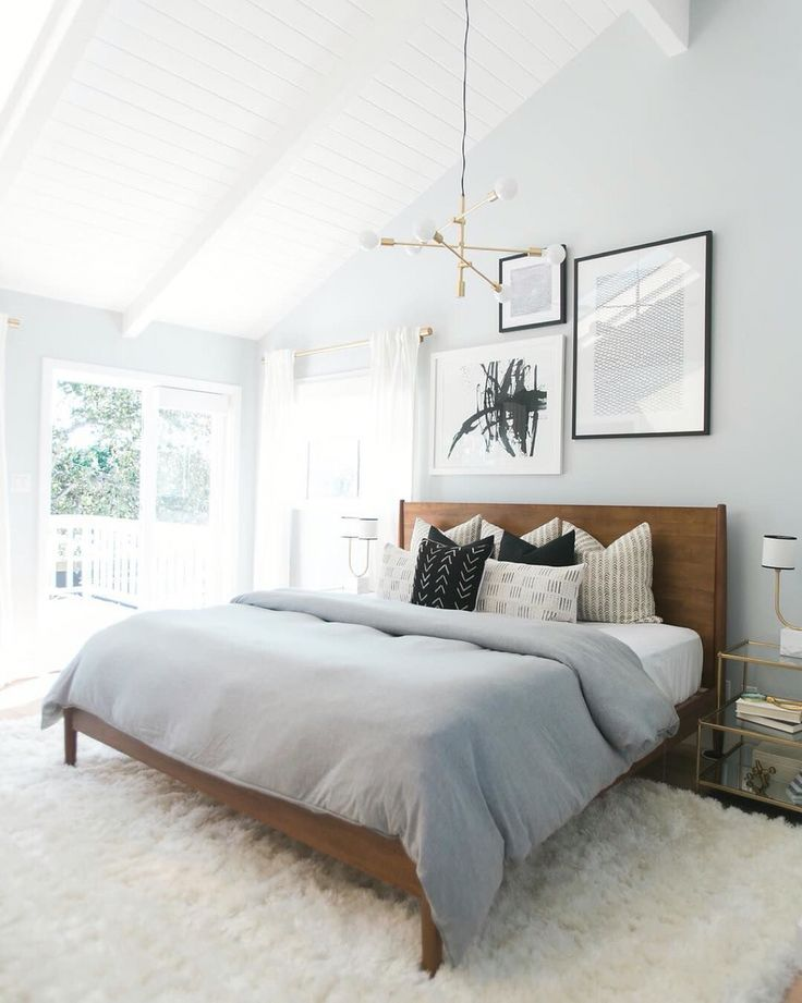 Mid century bed from west elm