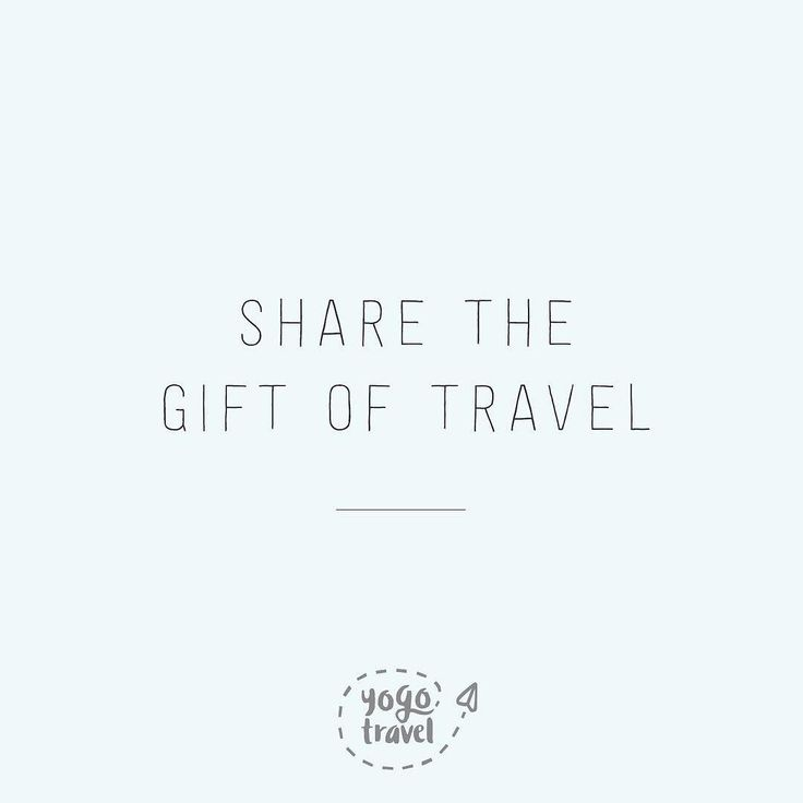 Share your love of travel this year with one of our YoGo Travel Gift Cards  check out the link in our bio or send us a message to learn more!