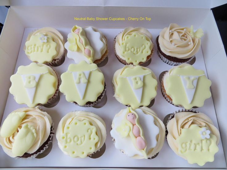 Unisex Baby Shower Cupcakes : 75 best images about Baby Shower Cupcakes on Pinterest