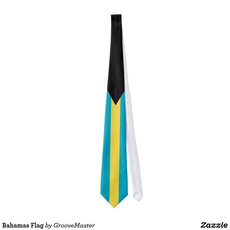 Bahamas Flag Neck Tie Bahamaian Pride Gifts