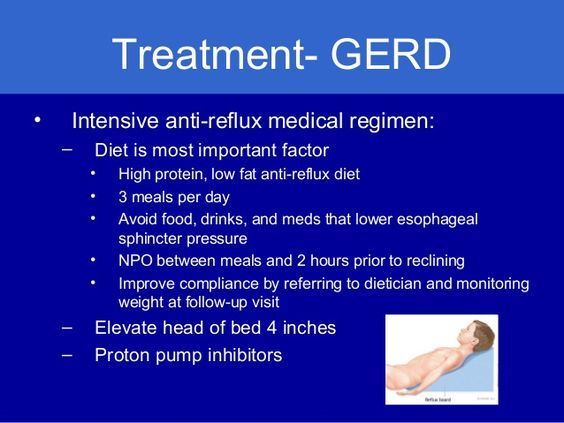 Intensive anti reflux medical regimen is required in a severe condition where patient need medical treatment. This treatment can only give relief for a short period of time. Check out this herbal product for controlling acid reflux : http://acidgone.com/heartburn-remedies/anti-reflux-drugs   #acidreflux #antirefluxremedy #health
