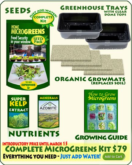 MicroGreens Seeds Pack | Food Security for $49