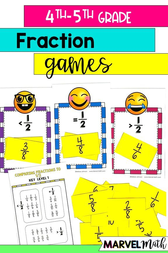 Comparing Fractions Games For 4th And 5th Grade Fraction Games Guided Math Stations Fractions