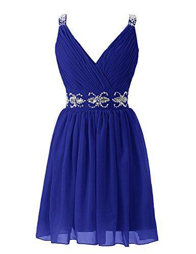 Diyouth Short Straps Bridesmaid Dresses Pleated Beading Belt Prom Dress Royal Blue Size 2 Diyouth http://www.amazon.com/dp/B00SKWCEW2/ref=cm_sw_r_pi_dp_TzJCvb1S9PRK9
