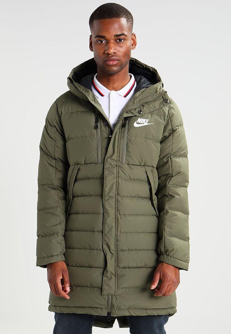 Nike Sportswear Daunenmantel - medium olive/black/white - Zalando.de