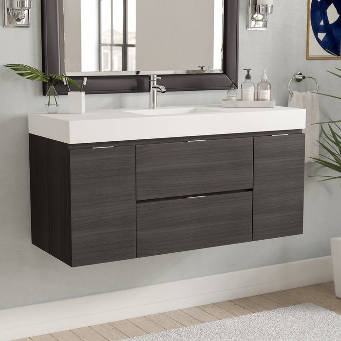 Tenafly 47 Wall Mounted Single Bathroom Vanity Set Modern Bathroom Modern Bathroom Vanity Elegant Bathroom