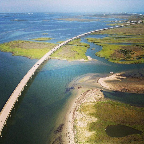 The Outer Banks, North Carolina The beauty from this bridge was wondrous......loved seeing the flying and perched seagulls up close as well as the tranquil views......definite must see.