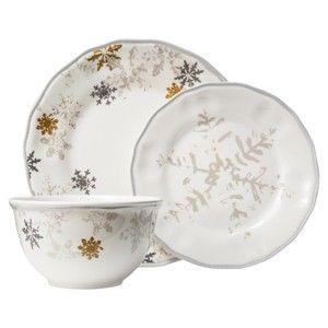Threshold™ Snowflake Scallop 12 Piece Dinnerware... : Target Mobile