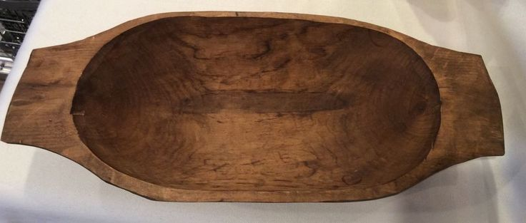 DOUGH BOWL PRIMITIVE ANTIQUE HAND CARVED WOOD W/ HANDLES KITCHEN TRENCHER #AmericanaPRIMITIVECOUNTRYHARVEST #HANDCARVED