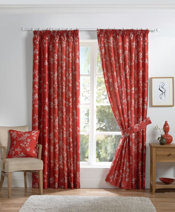 Best Ready Made Curtains Images On Pinterest Lined Curtains - Ready made curtains red