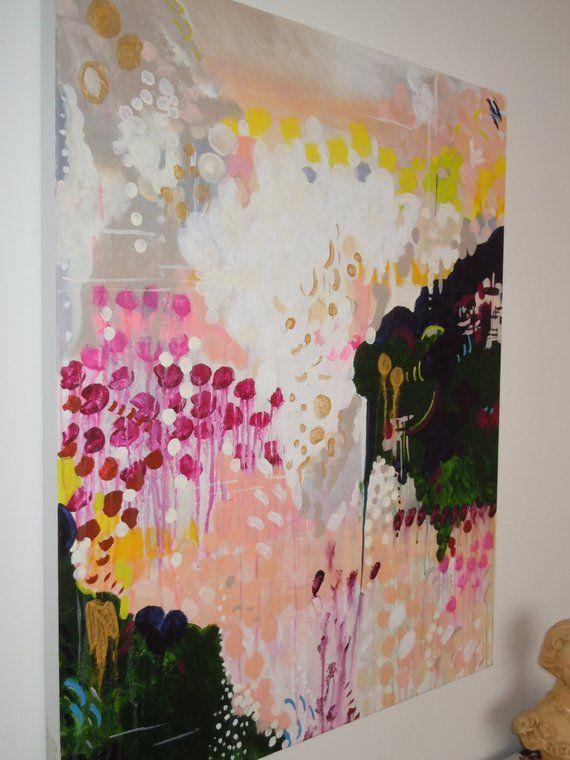 Original abstrakte Acryl-Malerei mit dem Titel Kathleen