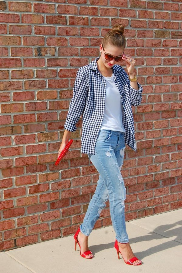 Believe us, you can wear gingham without looking like a picnic blanket.