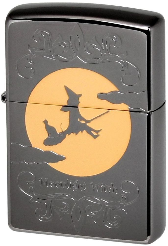 .ZIPPO Lighter Moonlight Witch FM Best Buy Gift from Japan F/S l Condition: New. we have to take a lighter apart and we ship them as dismounted lighter parts, and we don't ship Zippo flints .
