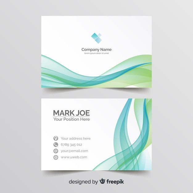 Download Wavy Lines Business Card Template For Free Business Card Graphic Business Card Templates Download Free Business Card Templates