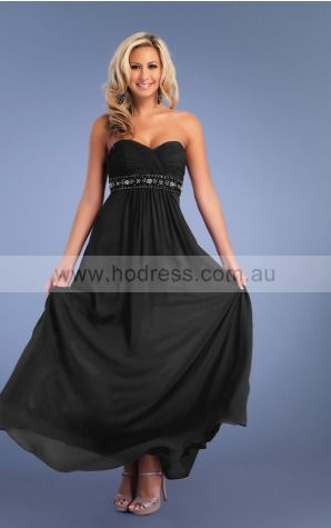 Sleeveless None Sweetheart Ankle-length Chiffon Evening Dresses dt00196--Hodress