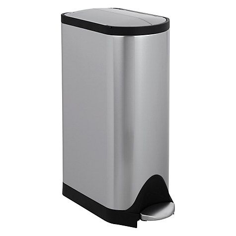 Buy simplehuman Butterfly Pedal Bin, Brushed Stainless Steel, 30L Online at johnlewis.com