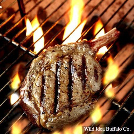 Wild Idea Buffalo 16 oz. Bone-In Ribeye Steak (Cowboy Steak) The Ribeye cap and bone add the extra richness to this cut. Our Bone-In Ribeyes make for a perfect presentation, and luckily they aren't just for cowboys. Our bone-in ribeye was a featured winner of the 2012 Cooking Light Artisan Products Award. Cut to 16 oz. each. -  http://wildideabuffalo.com/