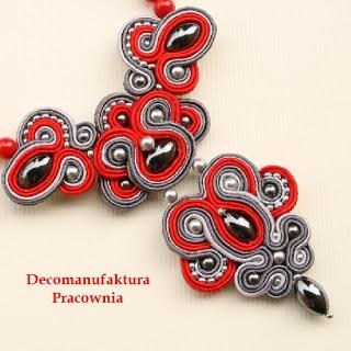 Ewa Jankowska - biżuteria sutasz: Naszyjnik sutasz ( soutache ) - Pasodoble II