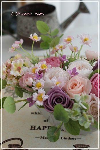【今日の贈花】お母さんのお誕生日に|横浜 上大岡 アレンジメント教室「小さなお花の教室」 http://ameblo.jp/flower-note/entry-11811142957.html