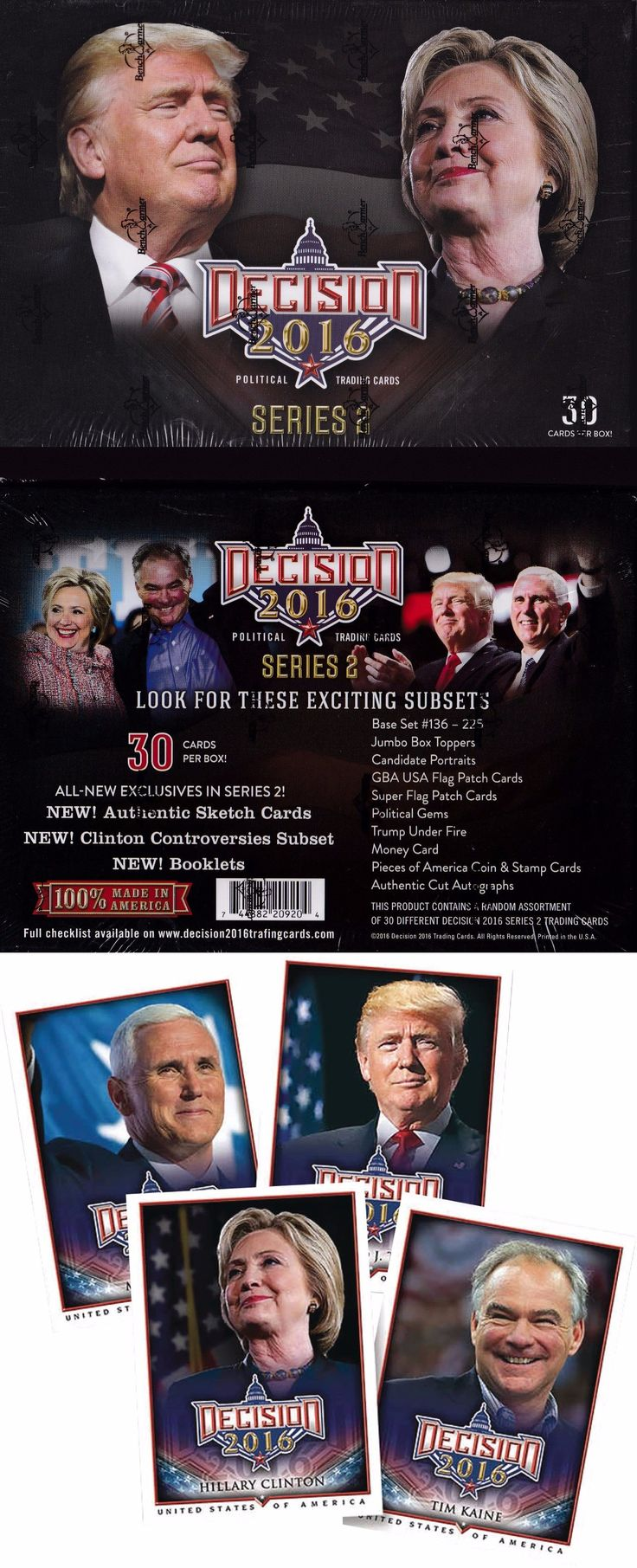 Hillary Clinton: Donald Trump Hillary Clinton 2016 Presidential Trading Cards Deluxe Box Set ** -> BUY IT NOW ONLY: $149 on eBay!